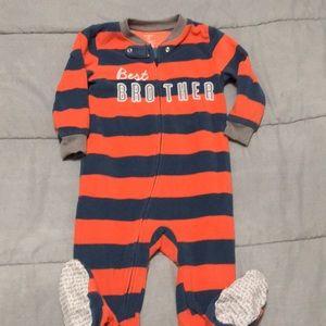 Carter's toddler boy 2T fleece footed pajamas